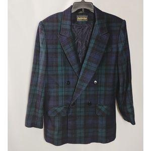 Giorgio Sant' Angelo Wool Buffalo Plaid Blazer 14